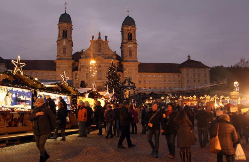 Weihnachtsmarkt in Einsiedeln, Schweiz
