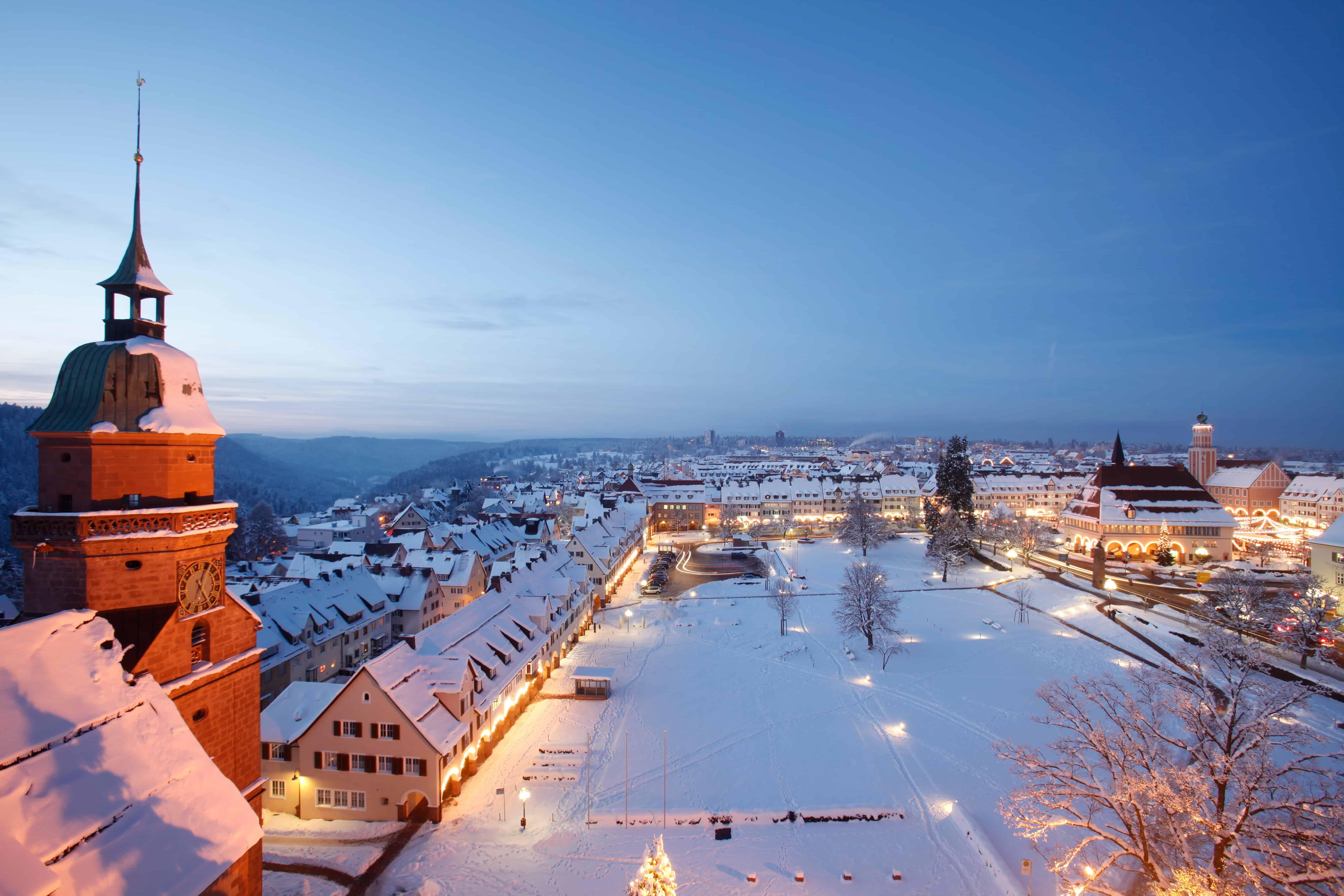 Winter WOnderland auf dem Weihnachtsmarkt in Freudenstadt