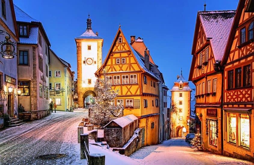 Stadtansicht Rothenburg o.d. Tauber, Weihnachtszeit