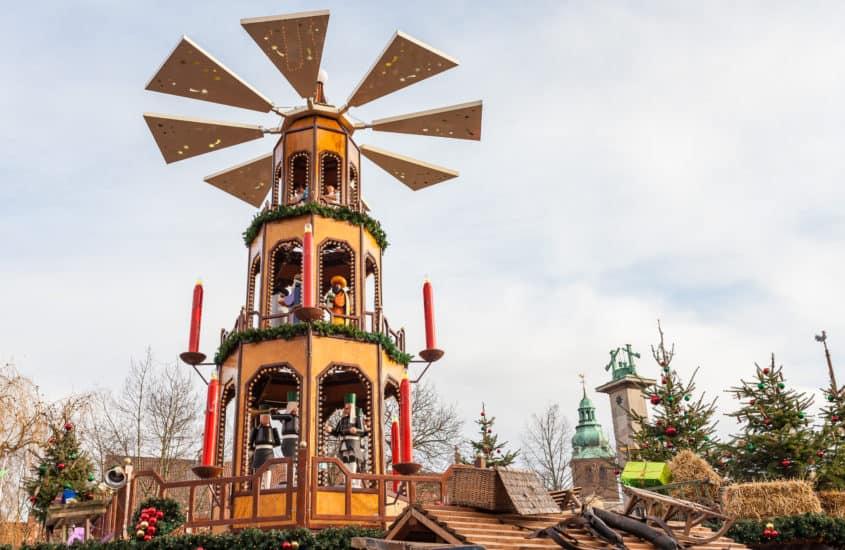 Pyramide auf dem Weihnachtsmarkt in Bad Salzuflen