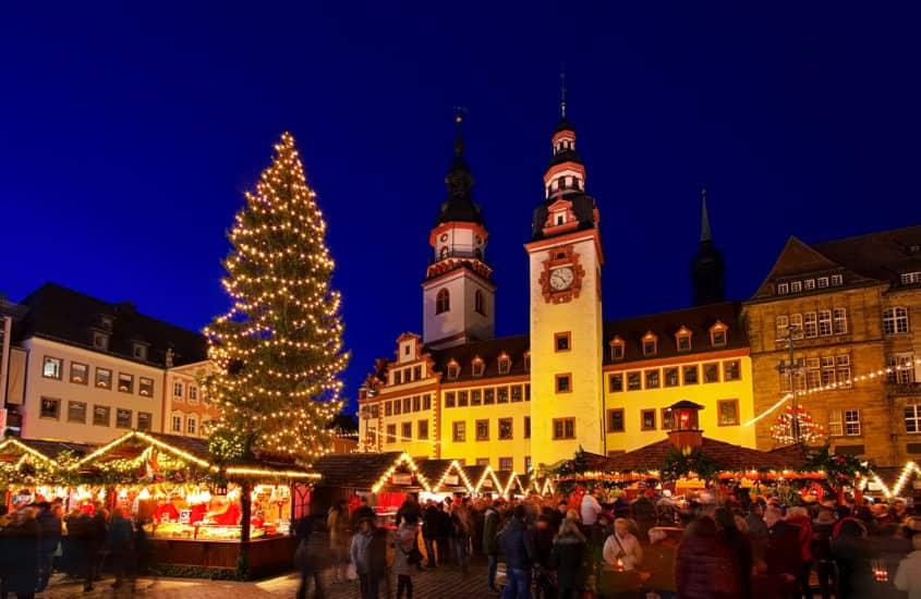 Weihnachtliche Stimmung auf dem Weihnachtsmarkt in Chemnitz