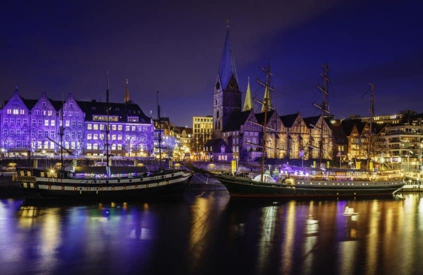 Abendstimmung Bremen Weihnachtsmarkt