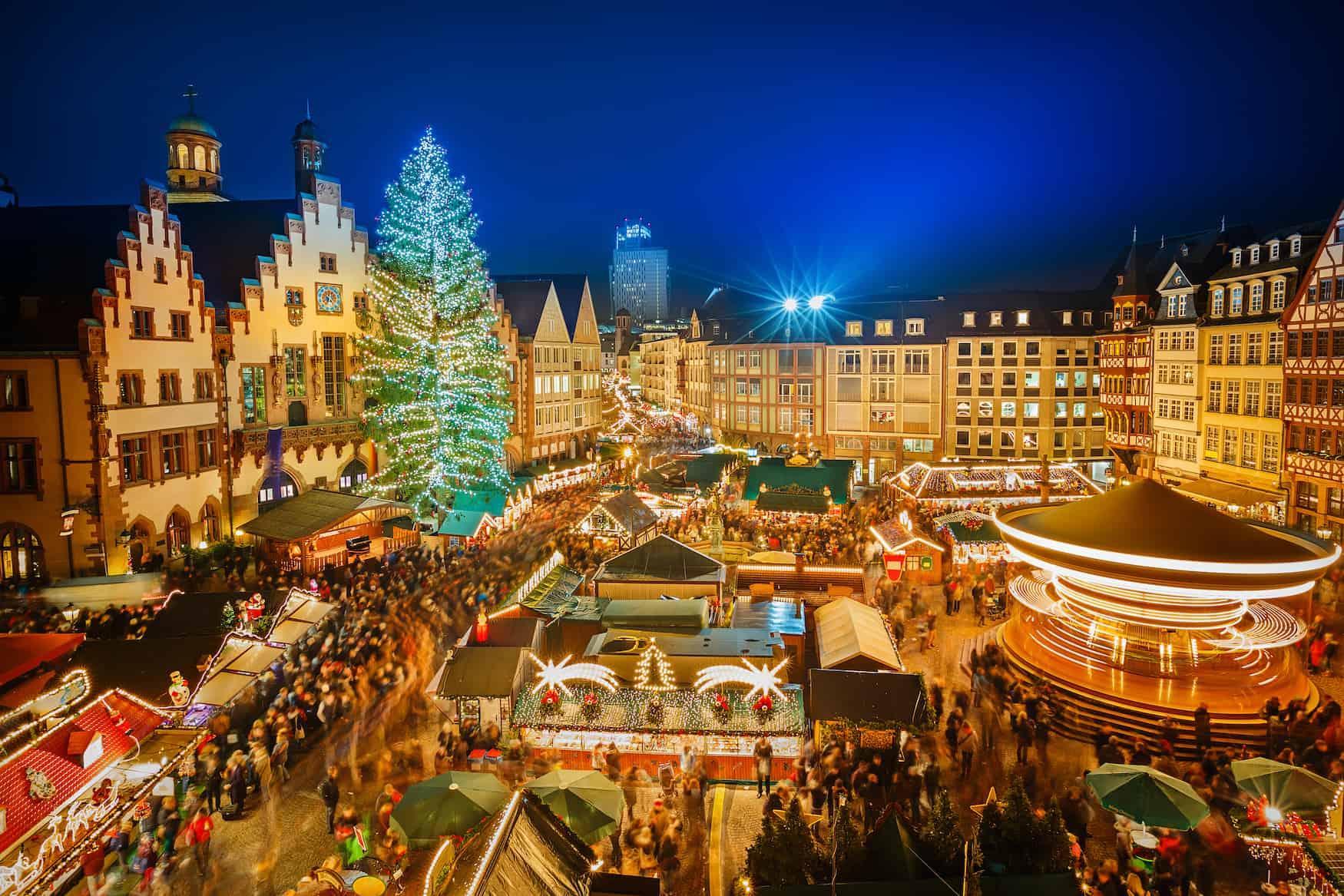 Festlicher Weihnachtsmarkt in Frankfurt