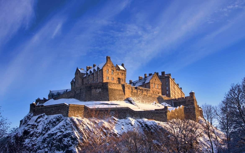 Festung auf Hausberg in Edinburgh, Schottland