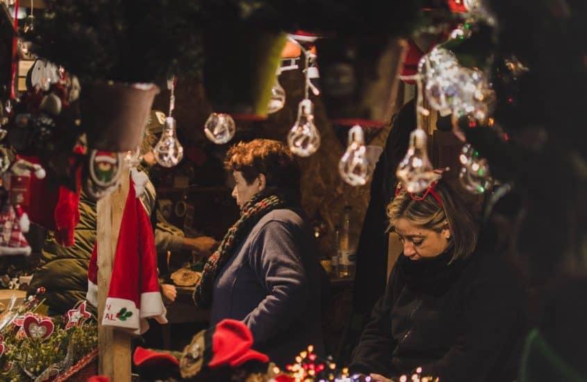Abendliche Stimmung auf dem Weihnachtsmarkt