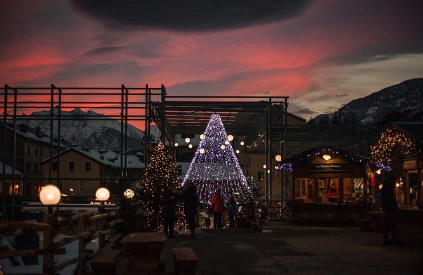 Ansicht auf einen Weihnachtsmarkt