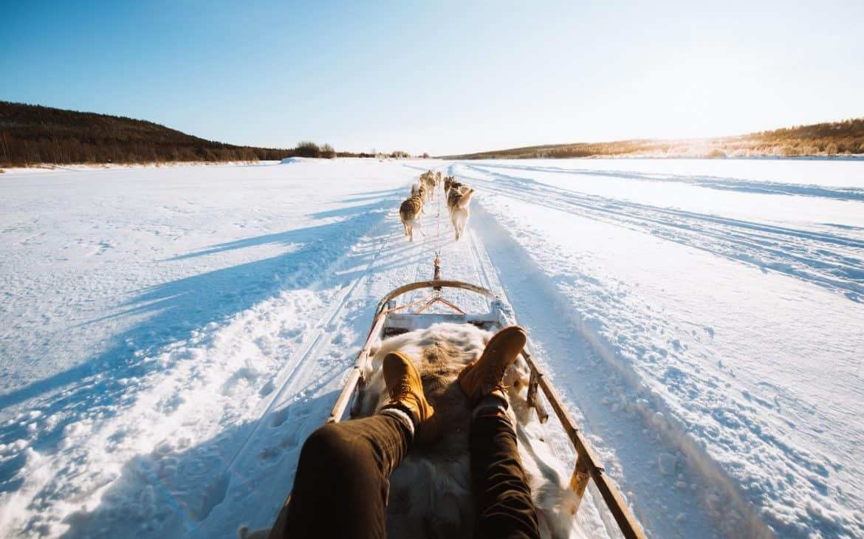 Huskytour in Rovaniemi, Lappland