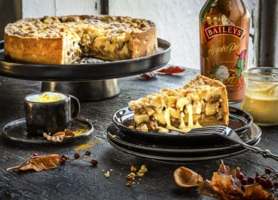 Apple Crumble Pie mit Baileys