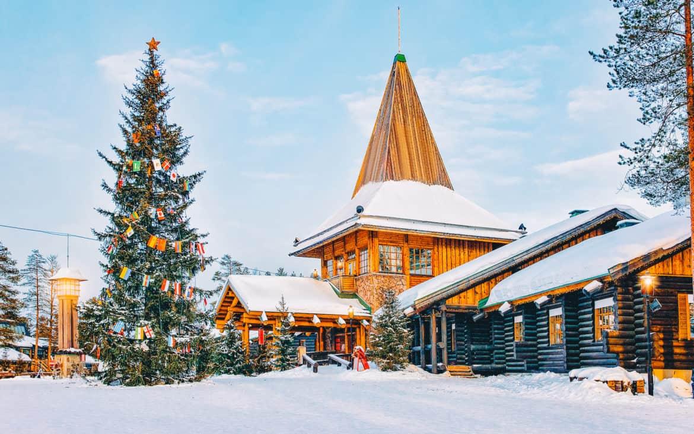 Rovaniemi in Lappland, Finnland. Dort, wo der Weihnachtsmann wohnt