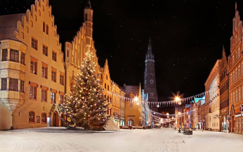 Winterliche Altstadt in Landshut