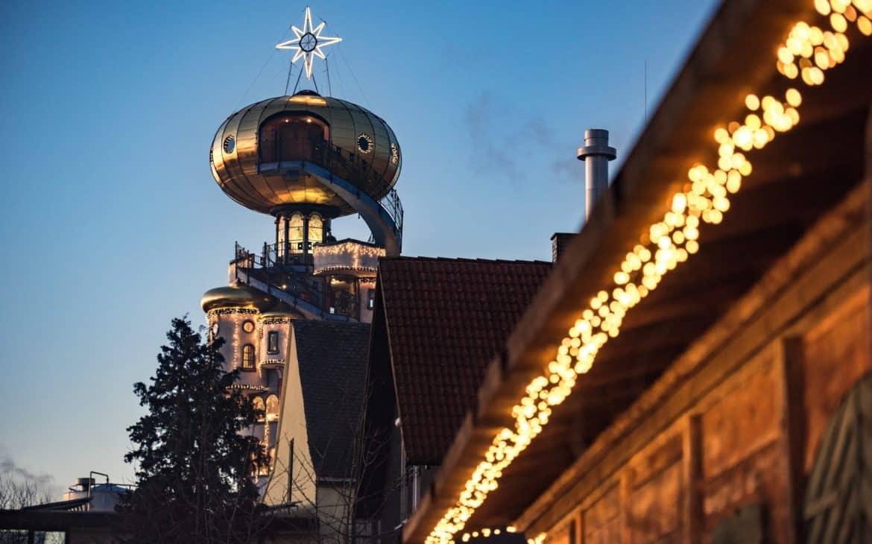Kuchlbauer Turm, ein Hundertwasser-Architekturprojekt geplant und bearbeitet von Architekt Peter Pelikan