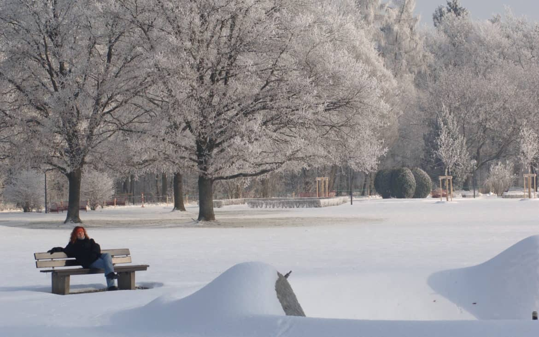 Kurpark Füssing im Winter